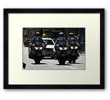 Police Escort Framed Print
