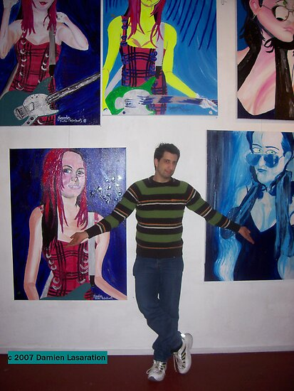 "On location at The Tap gallery 2007 at my solo exhibition ""The Blue Period"" by Lasaration"