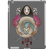 paper birds, a dragon and no face -gray-  iPad Case/Skin