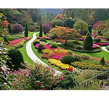 Butchart Gardens, Victoria, Canada, in Autumn Photographic Print