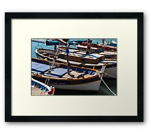 Fishing boats, Cassis, French Riviera Framed Print