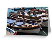 Fishing boats, Cassis, French Riviera Greeting Card