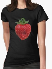 Strawberry Womens Fitted T-Shirt