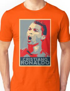 """Cristiano Ronaldo Portrait inspired by the Barack Obama """"Hope"""" poster designed by Shepard Fairey. Unisex T-Shirt"""