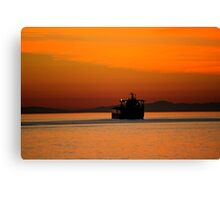 Diving in the sunset Canvas Print