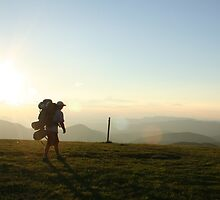 Sunset Hiker by cthans