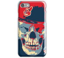 """Rage Skull Portrait inspired by the Barack Obama """"Hope"""" poster designed by Shepard Fairey. iPhone Case/Skin"""