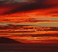 tropical sunset III - puesta del sol en la zona tropical by Bernhard Matejka