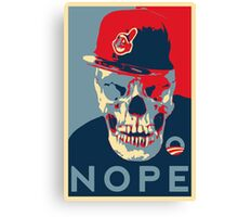 "Rage Skull Portrait inspired by the Barack Obama ""Hope"" poster designed by Shepard Fairey. Canvas Print"