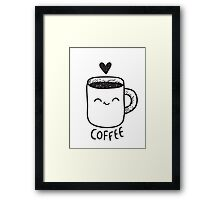 """Coffee (one of the paired t-shirts - look at """"Cream"""" design:) Framed Print"""