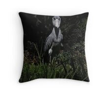 Shoe Billed Stork 1 Throw Pillow