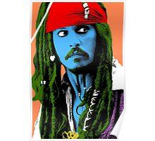 Captain Jack Sparrow Andy Warhol style Poster, Pop Art Big Digital Poster Portrait.  Poster