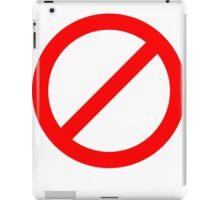No Zombies iPad Case/Skin