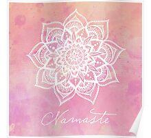 Namaste - Rose Quartz Poster