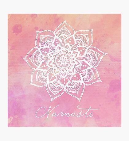 Namaste - Rose Quartz Photographic Print