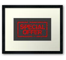 Special Offer (Red) Framed Print