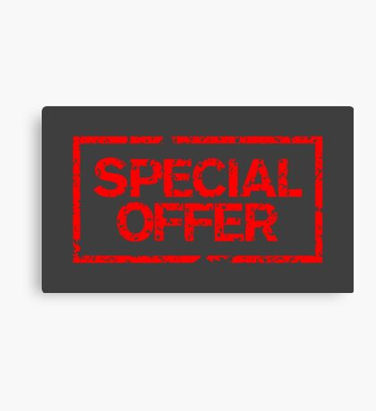 Special Offer (Red) Canvas Print