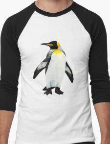 Polygon King Penguin Men's Baseball ¾ T-Shirt