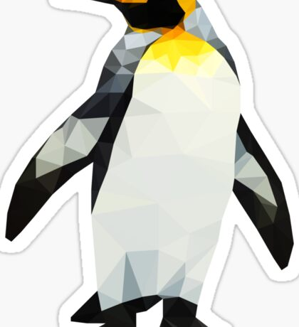 Polygon King Penguin Sticker