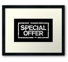 Special Offer (White) Framed Print