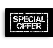 Special Offer (White) Canvas Print