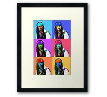 Captain Jack Sparrow Andy Warhol style Poster, Pop Art 6 Color Digital Poster Portrait. Pirates of the Caribbean. Framed Print