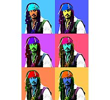Captain Jack Sparrow Andy Warhol style Poster, Pop Art 6 Color Digital Poster Portrait. Pirates of the Caribbean. Photographic Print