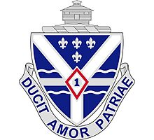131st Infantry Regiment - DUCIT AMOR PATRIAE - Led By Love Of Country Photographic Print