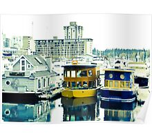 Boat houses in Vancouver Poster