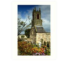 Clock Tower, Holywood Priory Church Art Print