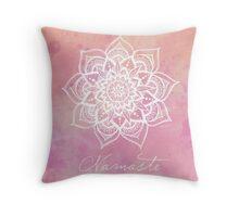Namaste - Rose Quartz Throw Pillow