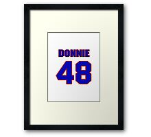 National football player Donnie Dee jersey 48 Framed Print