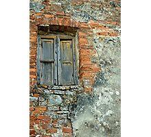 Brick Wall, Tuscany, Italy Photographic Print