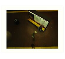 accordian player in Boston subway Art Print
