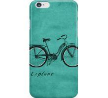 Retro Bicycle Pop Art 'Explore'. iPhone Case/Skin