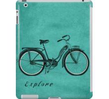 Retro Bicycle Pop Art 'Explore'. iPad Case/Skin