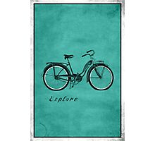 Retro Bicycle Pop Art 'Explore'. Photographic Print