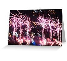 Firework Fountains Greeting Card