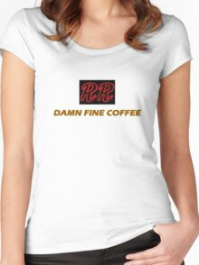 RR - Damn fine coffee Women's Fitted Scoop T-Shirt