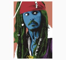 Captain Jack Sparrow Andy Warhol style Poster, Pop Art Big Digital Poster Portrait.  One Piece - Long Sleeve