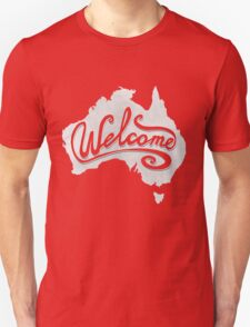 Welcome Australia - White Unisex T-Shirt