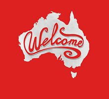 Welcome Australia - White Womens Fitted T-Shirt