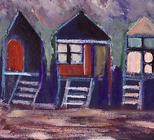 Beach huts by sword