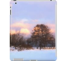Watercolor Winter - Colorful Day on the Lake iPad Case/Skin