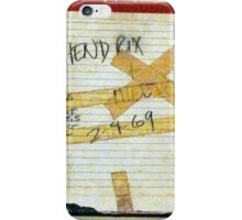 Jimi Hendrix box for original studio master tape iPhone Case/Skin