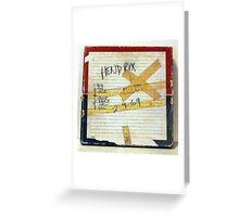 Jimi Hendrix box for original studio master tape Greeting Card