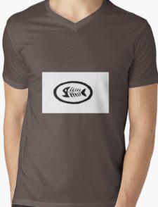 Fish Mooney Logo Mens V-Neck T-Shirt