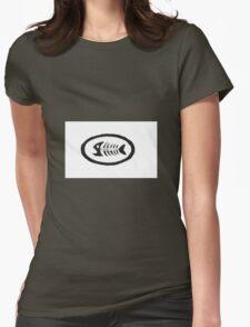 Fish Mooney Logo Womens Fitted T-Shirt