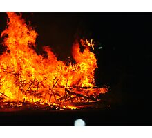 Burning of the Up Helly Aa Galley Photographic Print