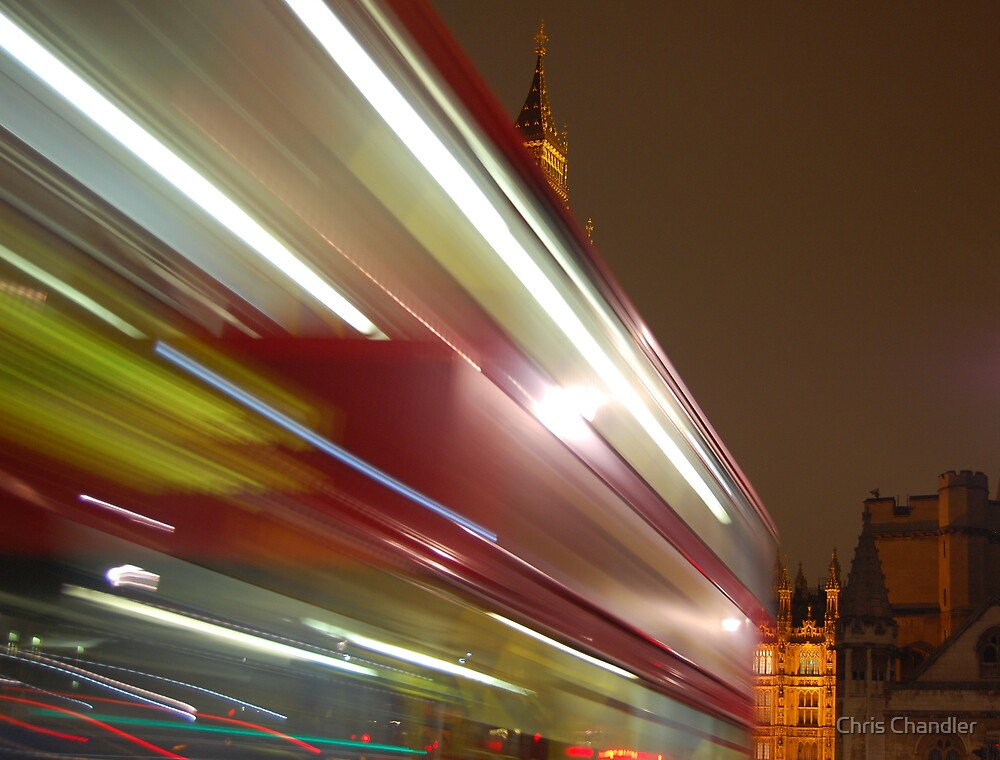 Glimpse of Big Ben by Chris Chandler